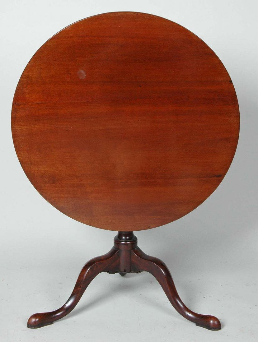 18TH C. QUEEN ANNE CUBAN MAHOGANY TEA TABLE