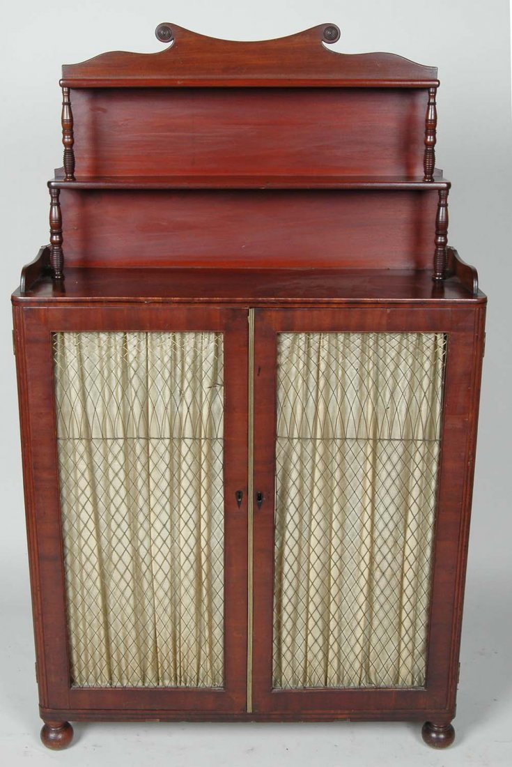 FINE EARLY 19TH C. ENGLISH REGENCY MAHOGANY BOOKCASE