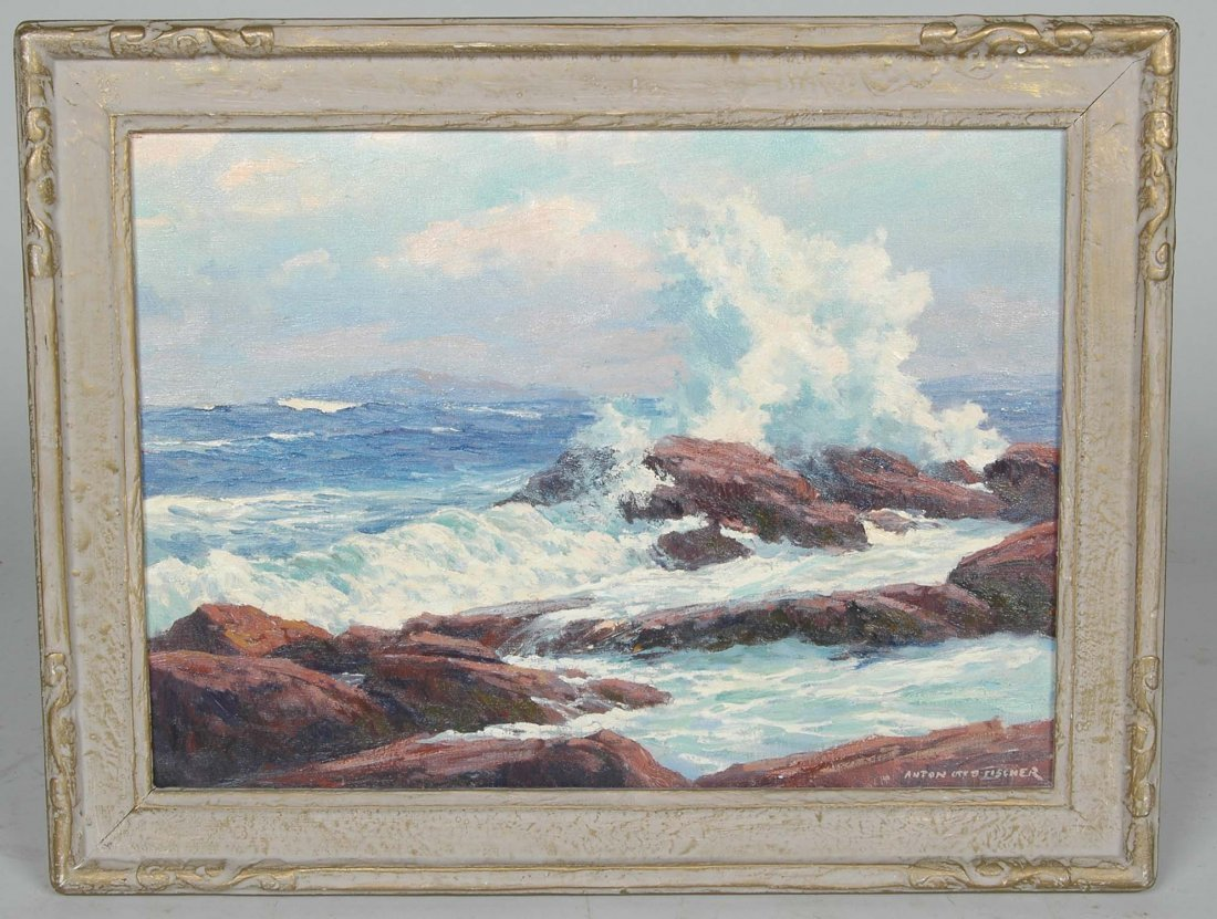 ANTON OTTO FISCHER, OIL ON CANVAS SEASCAPE