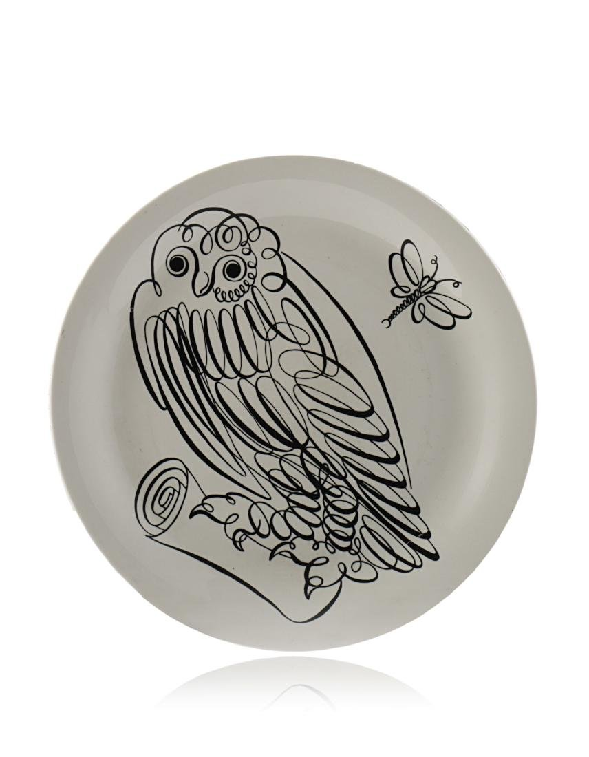 "Piero Fornasetti - Plate from the ""Uccelli"