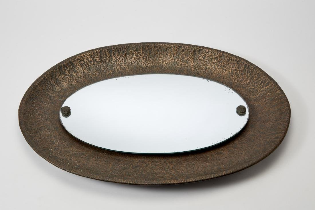 Angelo Bragalini (attributed) - Mirror with oval frame.