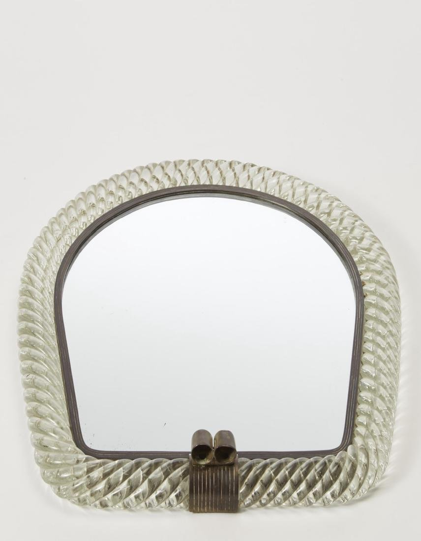 Venini - Brass applique with glass frame. Murano, 1930s