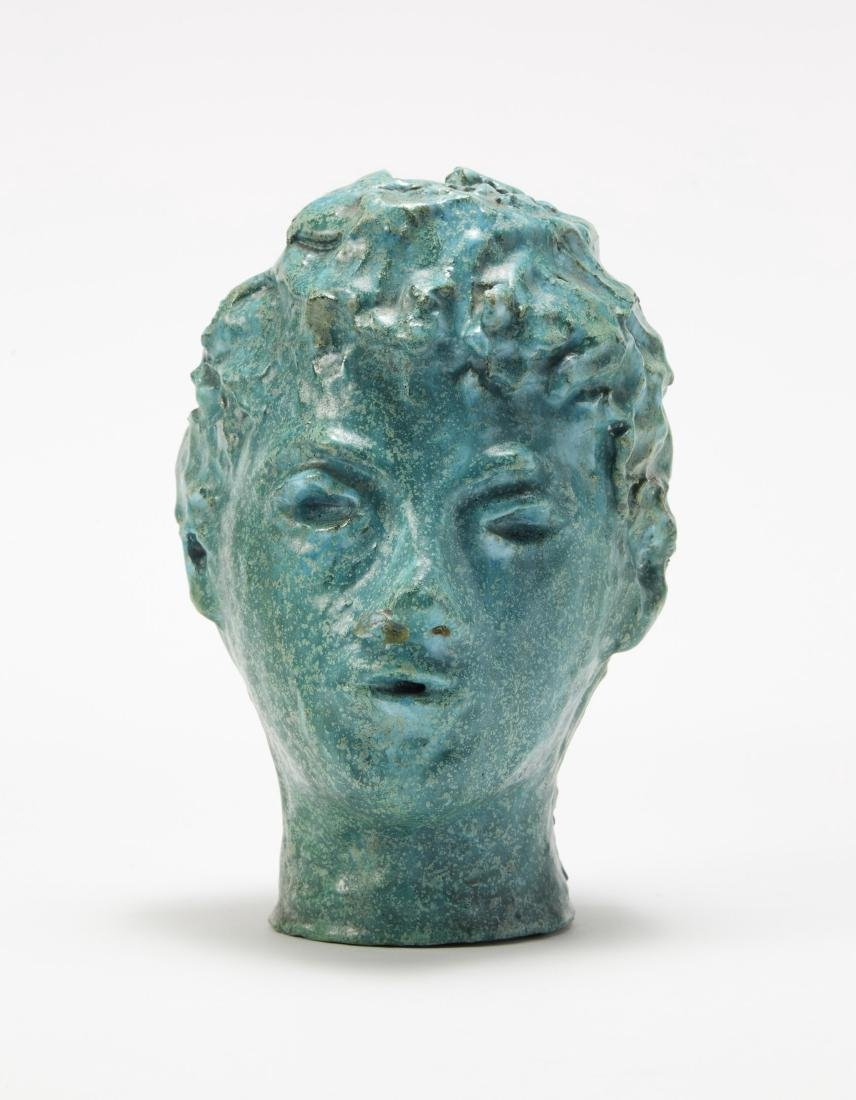 """Child"", glazed terracotta sculpture. Italy, circa"