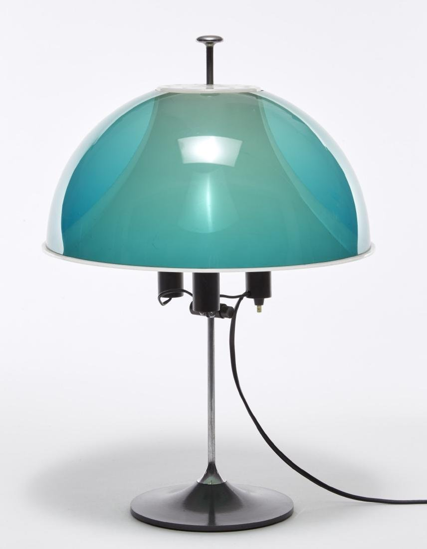 Table lamp. Metal an plexiglass. Italy, late 1960s (h