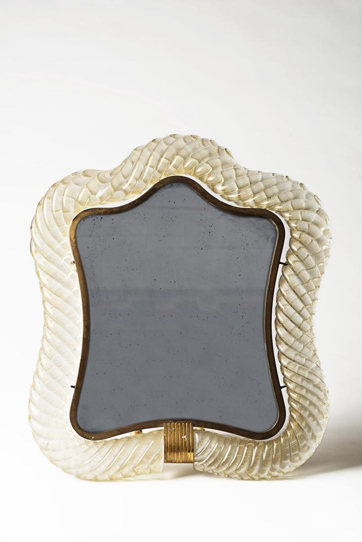 Barovier & Toso - A mirror with a glass frame eith