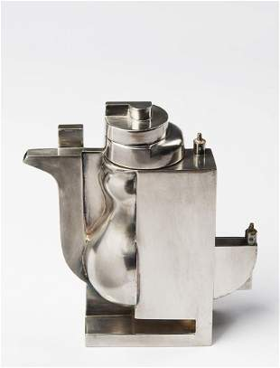 """Richard Meier - A silver coffee pot from the """"Tea and"""
