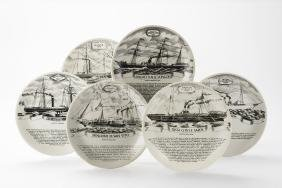 "Piero Fornasetti - Six Plates From The ""amaro Della"