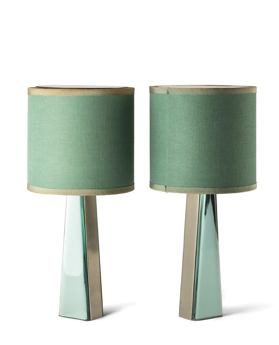 "Fontana Arte - A pair of table lamps model ""2374""."
