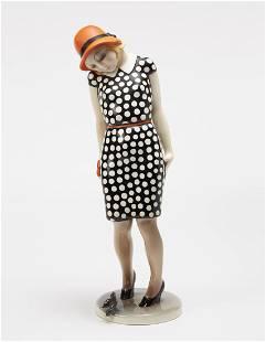 """Helen Konig Scavini - """"Nella"""", a ceramic sculpure."""