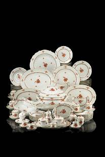 Part of a porcelain dinnerware set. Herend manufacture,