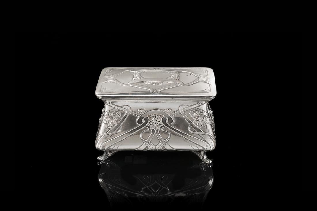 A silver box. Italy, beginning 20th century.
