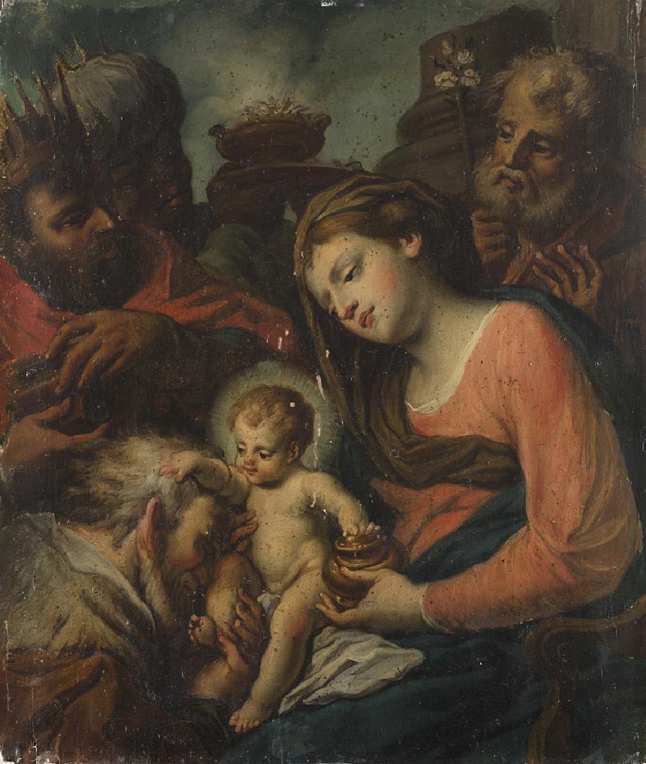 "Italian school, late 18th-century "" The Adoration of"