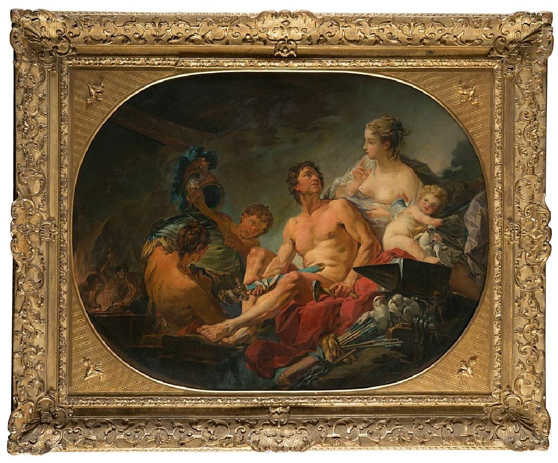 "19th-century French school ""Venus, Vulcano and Putti"""