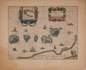 BLAEU, William (1571-1638). Moluccae insulae