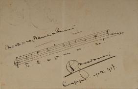 ZANDONAI, Riccardo (1883-1944). Cartolina autografa