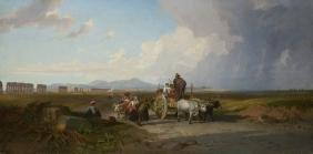 """Penry Williams (Boston 1787 -  1830) """"Sosta della"""