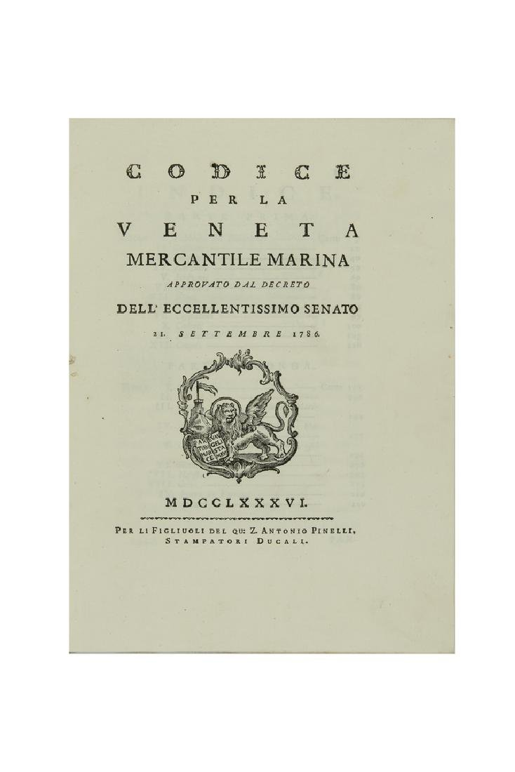 Codice per la veneta mercantile marina approvato dal