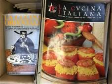 Lotto composto da numerose riviste e libri di cucina