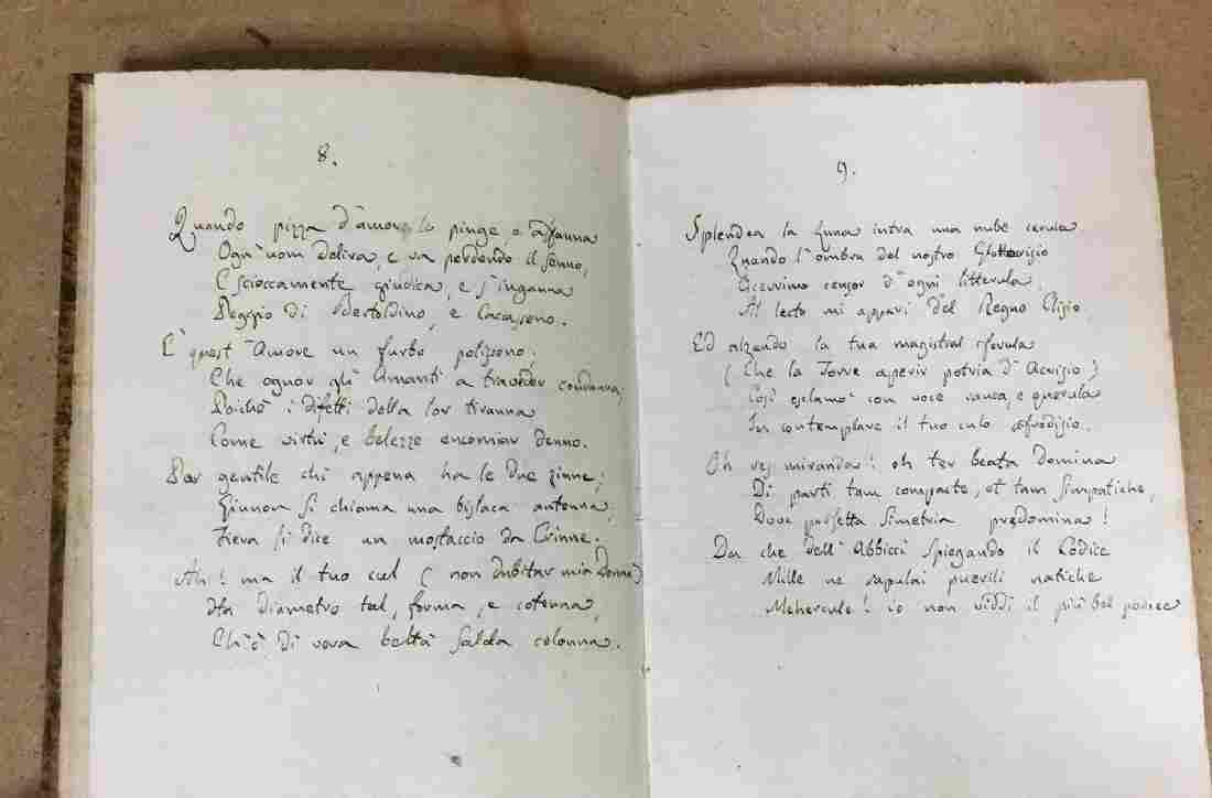 TESTA, Francesco. La Culeide. Sonetti 100. Sec. XVIII.