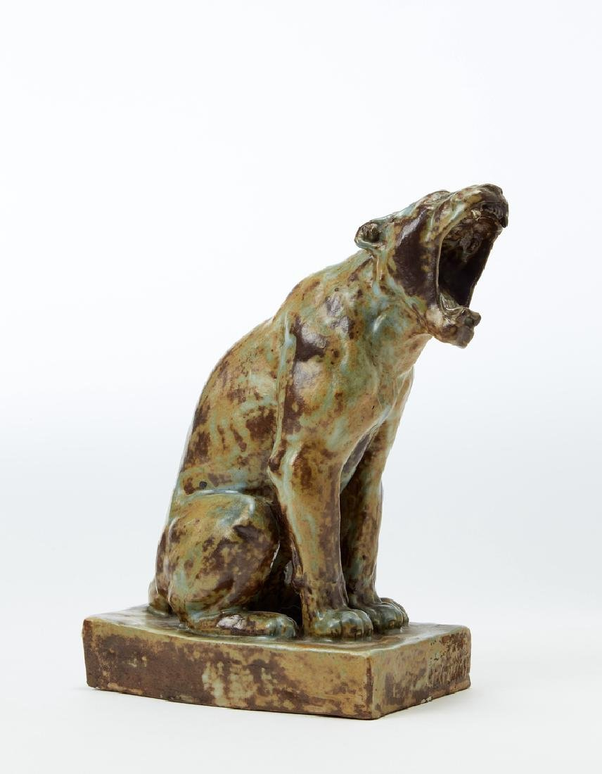 "Georges Lucien Guyot (1885 - 1973) ""Pantera"" Scultura"