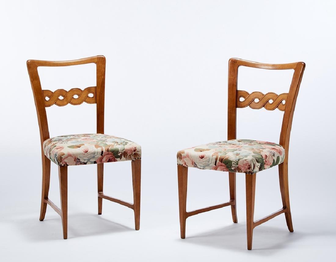 Paolo Buffa (Milano 1903 - Milano 1970) Coppia di sedie