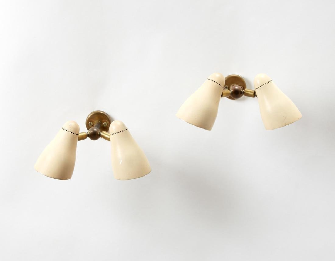 Giuseppe Ostuni  Coppia di lampade da parete a due luci