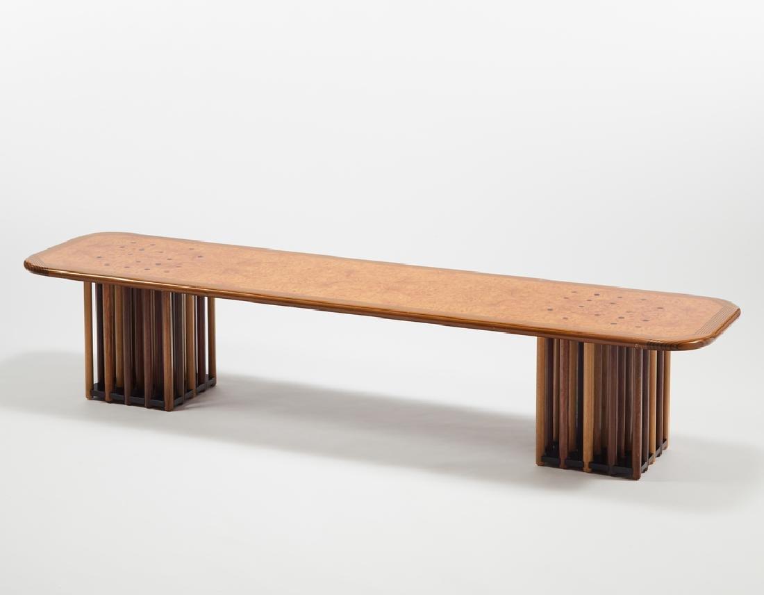 Afra e Tobia Scarpa  Tavolino/panca rettangolare della