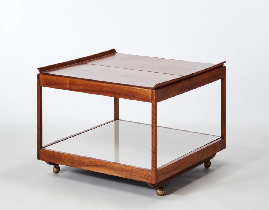 Martin Eisler (1913 - 1977) A wooden trolley model