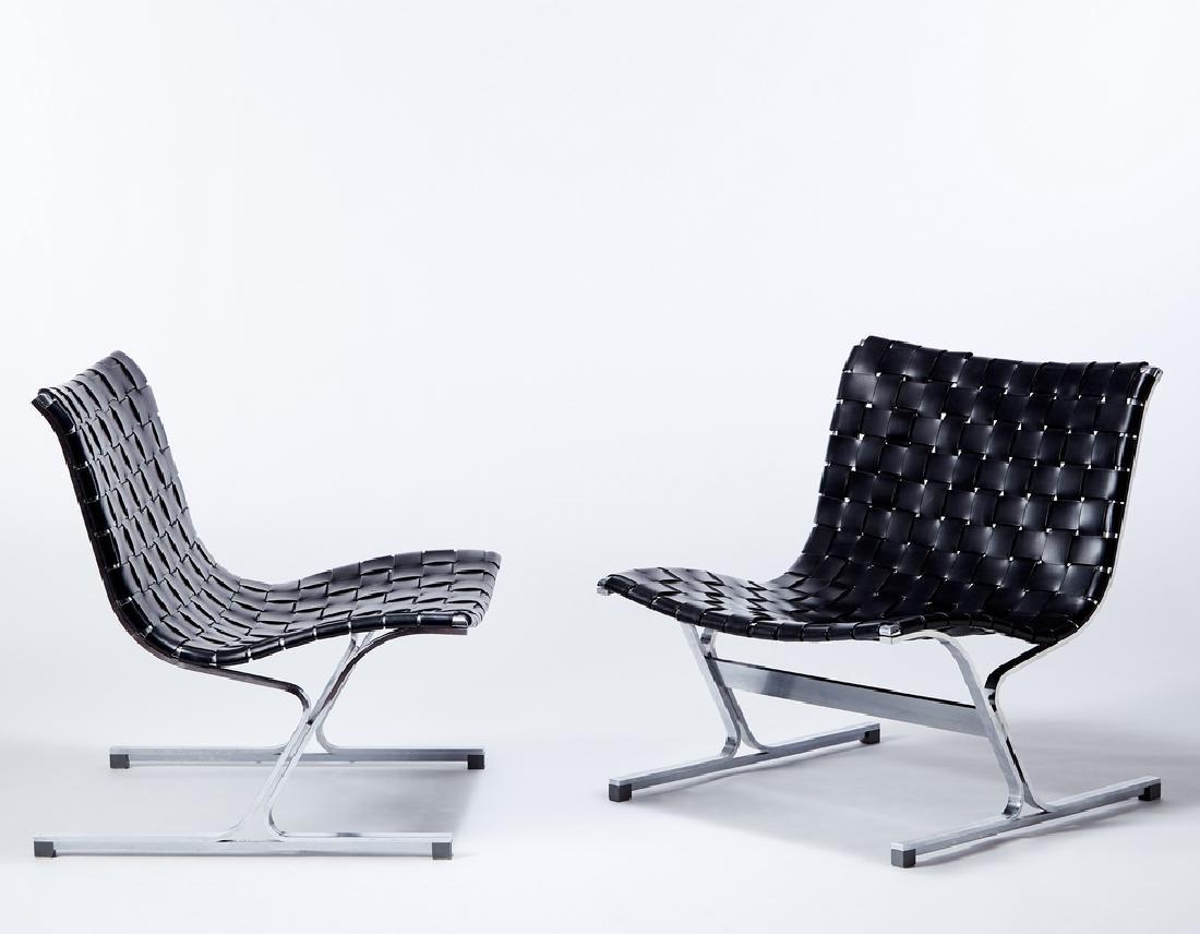 Ross Littell (1924 - 2000) Pair of armchairs model