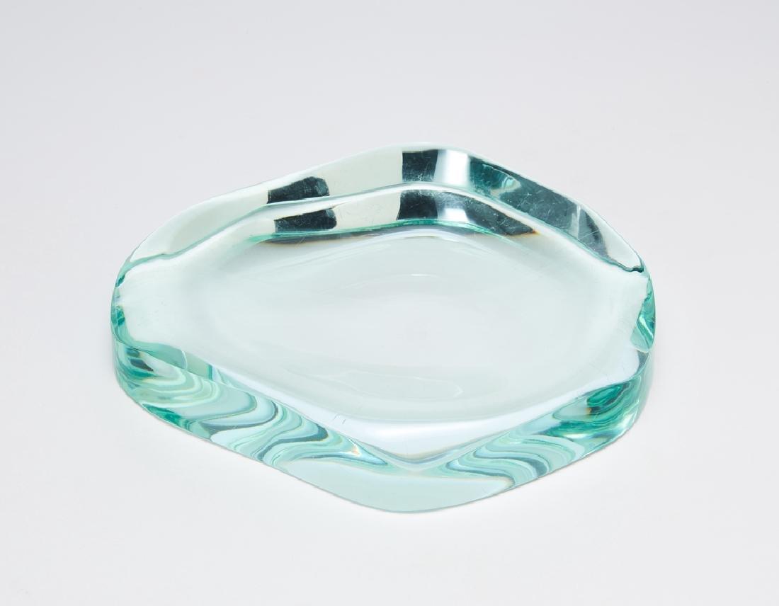 Fontana Arte  Bevelled glass vide-poches of irregular