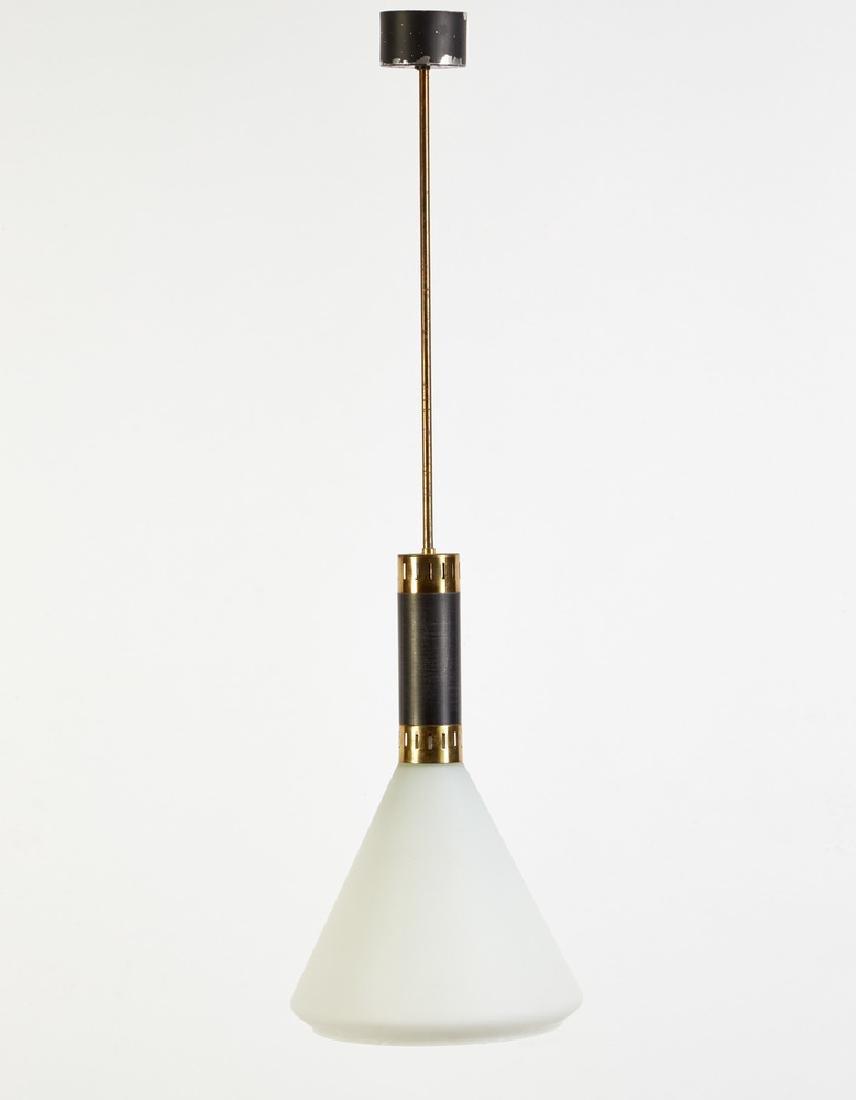 Stilnovo (attribuito)  Lampada a sospensione in metallo
