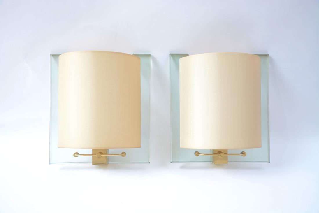 Fontana Arte  Coppia di lampade da parete modello