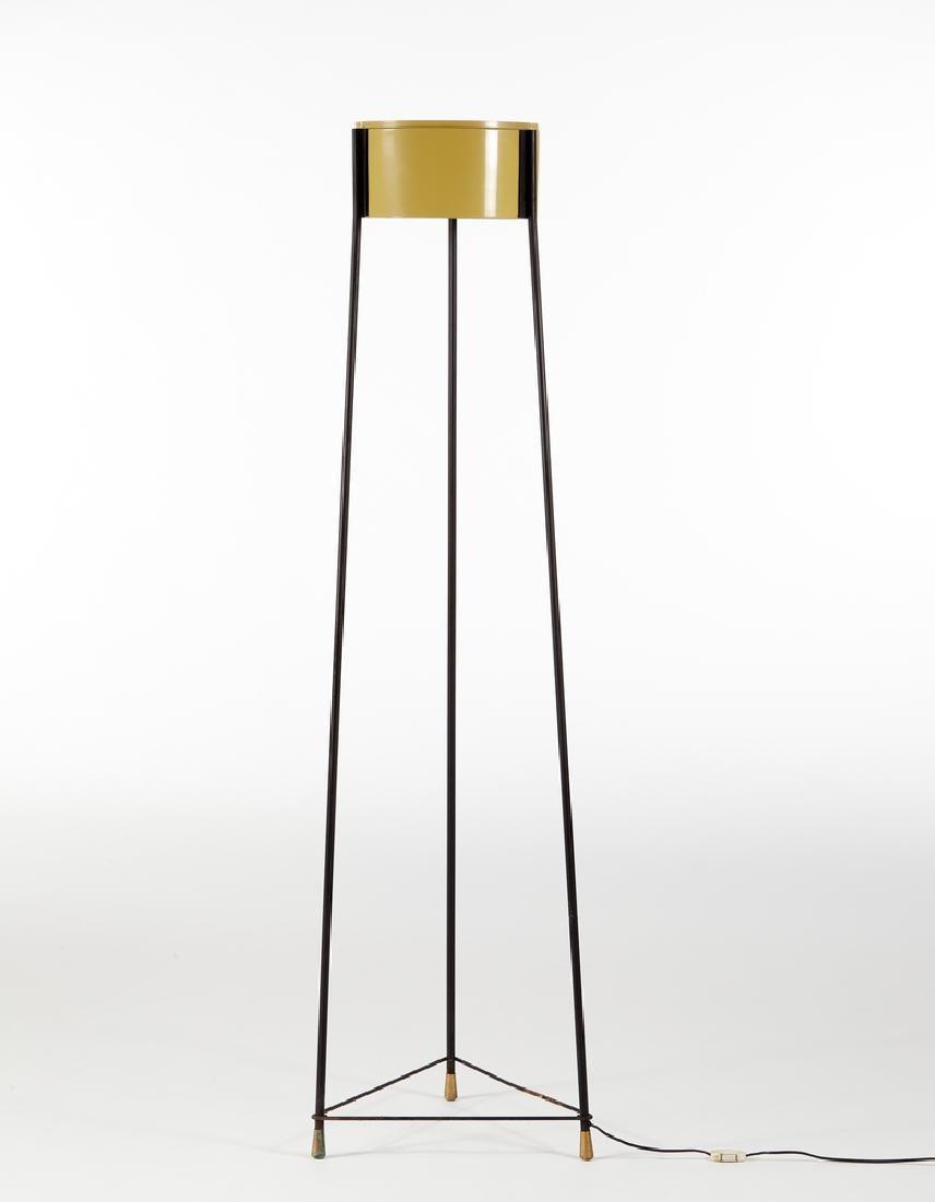 Stilnovo  Lampada da terra a tripode in tondino