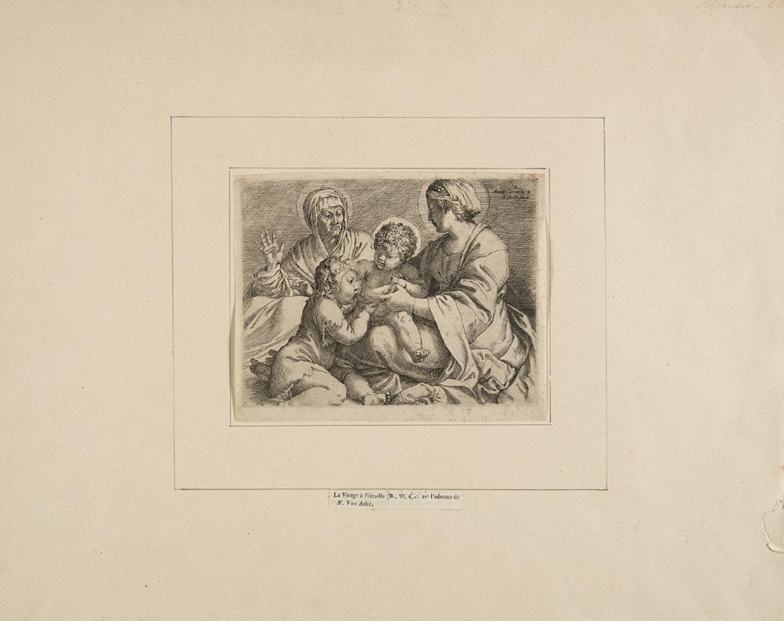 """Annibale Carracci (Bologna 1560 - Roma 1609)""""Madonna"""