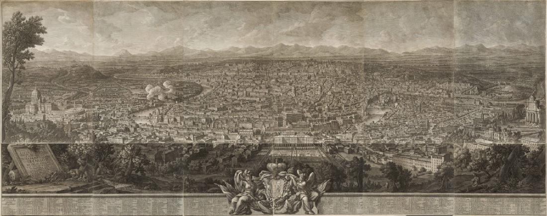 """Giuseppe Vasi (1710 - 1782)""""Prospetto dell'Alma città"""