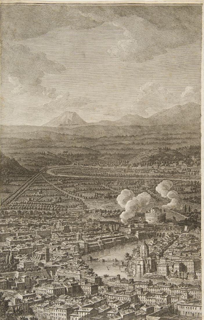 """Giuseppe Vasi (1710 - 1782)""""Prospetto dell'Alma città - 2"""