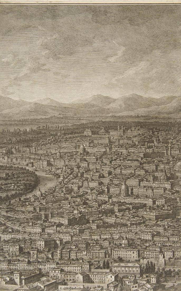 """Giuseppe Vasi (1710 - 1782)""""Prospetto dell'Alma città - 3"""