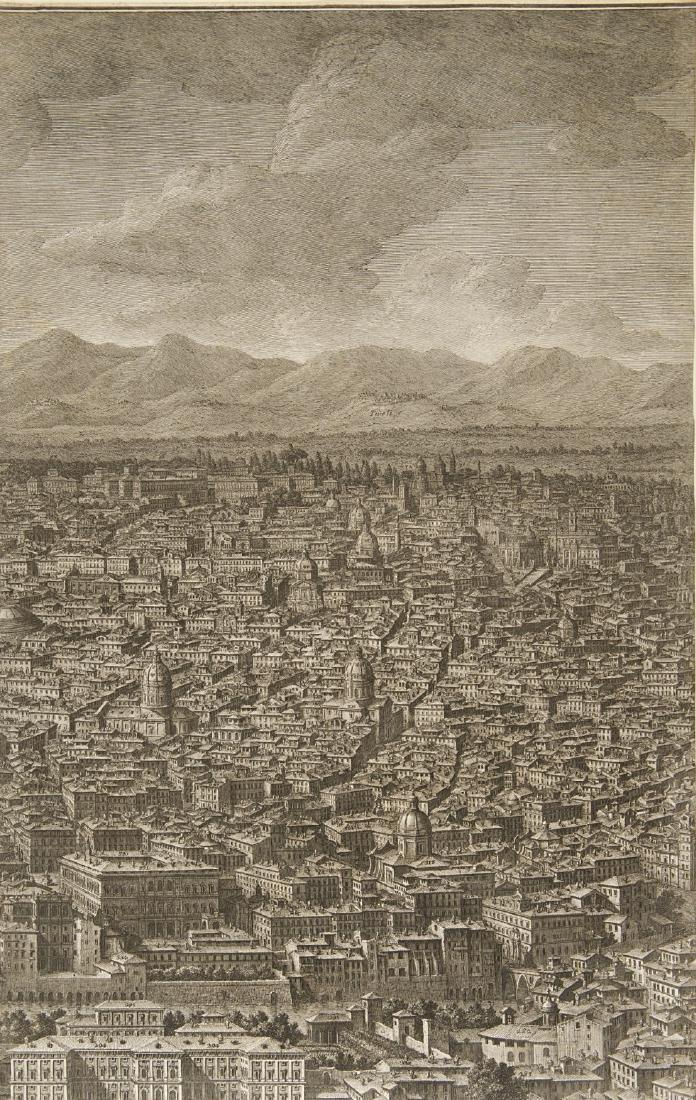 """Giuseppe Vasi (1710 - 1782)""""Prospetto dell'Alma città - 4"""