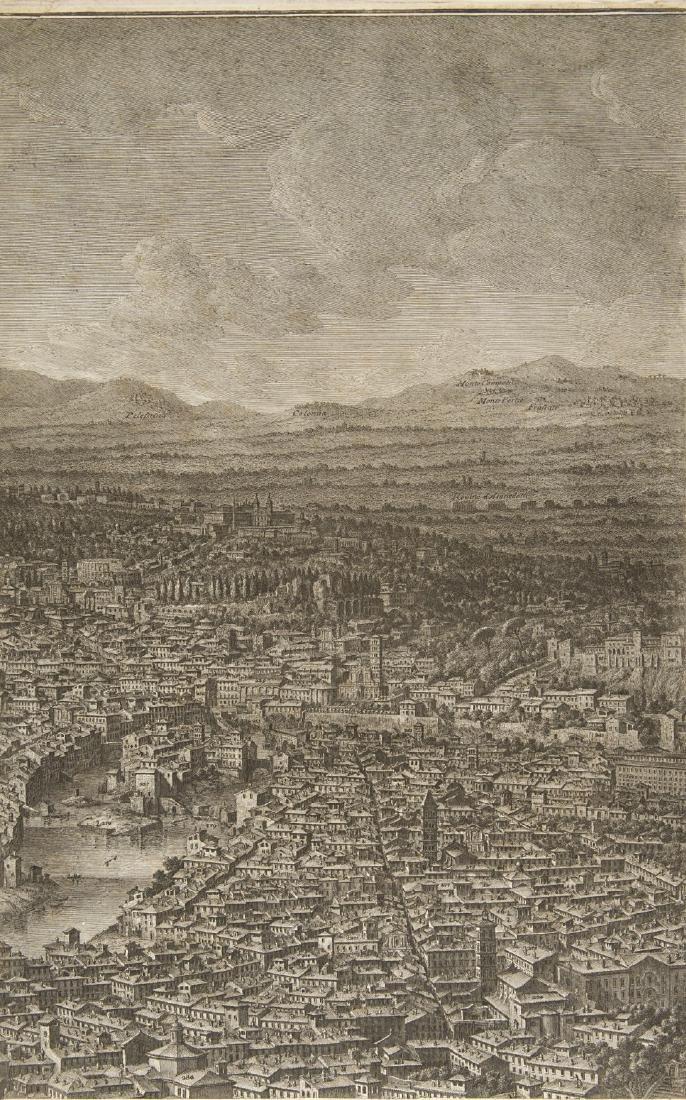 """Giuseppe Vasi (1710 - 1782)""""Prospetto dell'Alma città - 5"""