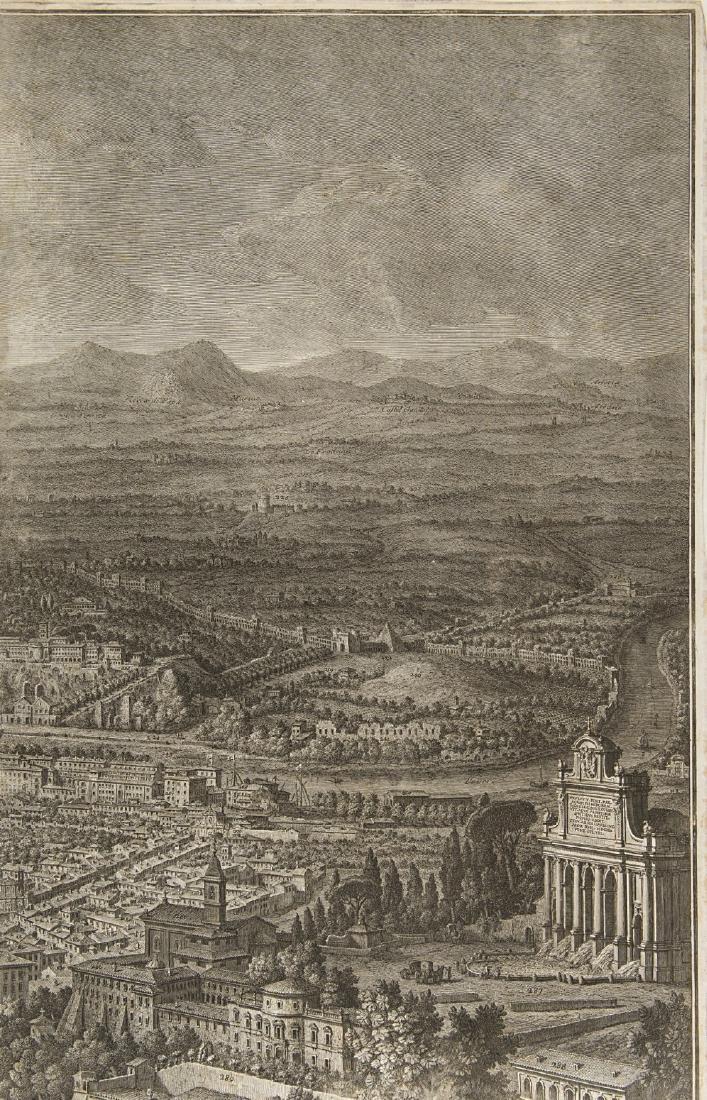 """Giuseppe Vasi (1710 - 1782)""""Prospetto dell'Alma città - 6"""