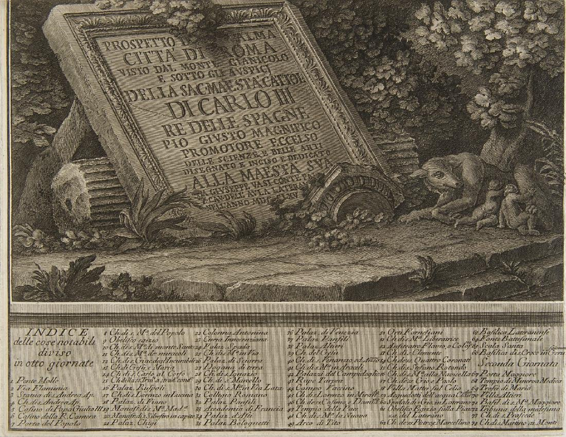"""Giuseppe Vasi (1710 - 1782)""""Prospetto dell'Alma città - 7"""