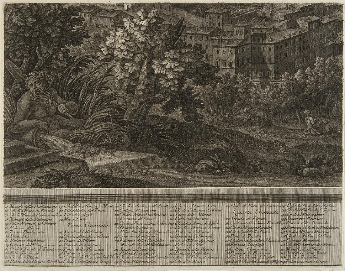 """Giuseppe Vasi (1710 - 1782)""""Prospetto dell'Alma città - 9"""