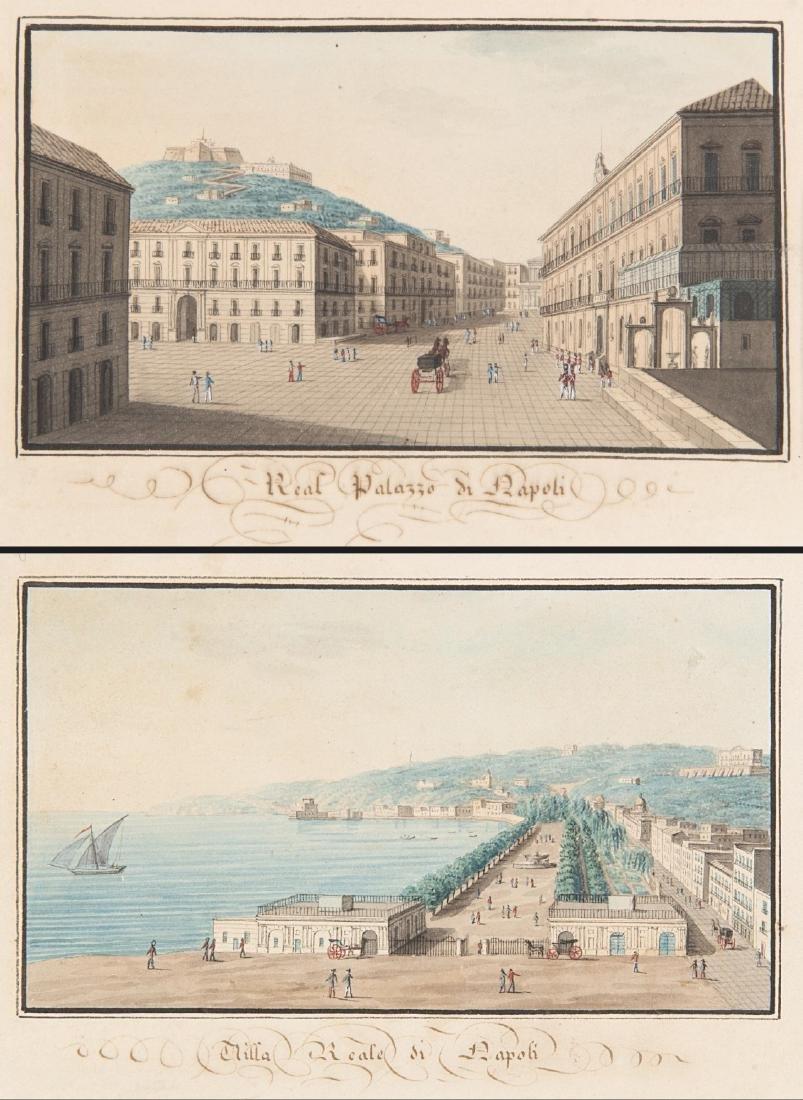 """Scuola napoletana inizio secolo XIX """"Villa e Palazzo"""