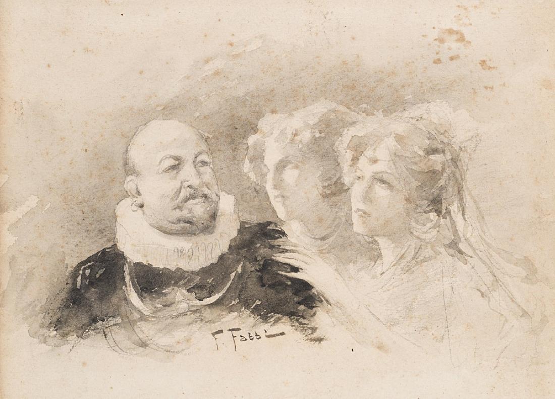 """Fabio Fabbi (Bologna 1861 - Casalecchio 1946)""""Figure"""""""