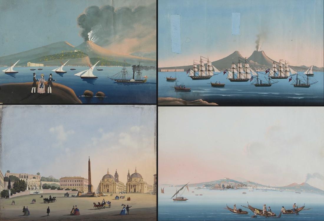 Scuola napoletana, fine secolo XIX. Lotto composto da