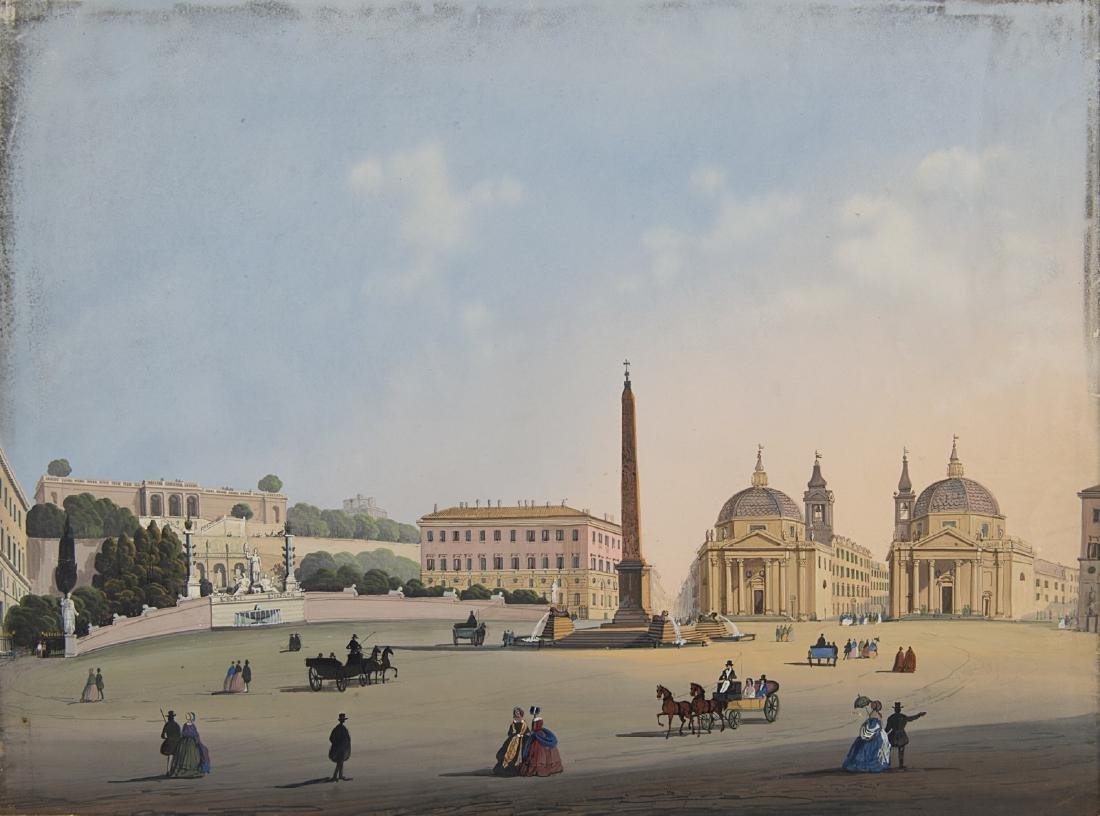 Scuola napoletana, fine secolo XIX. Lotto composto da - 4