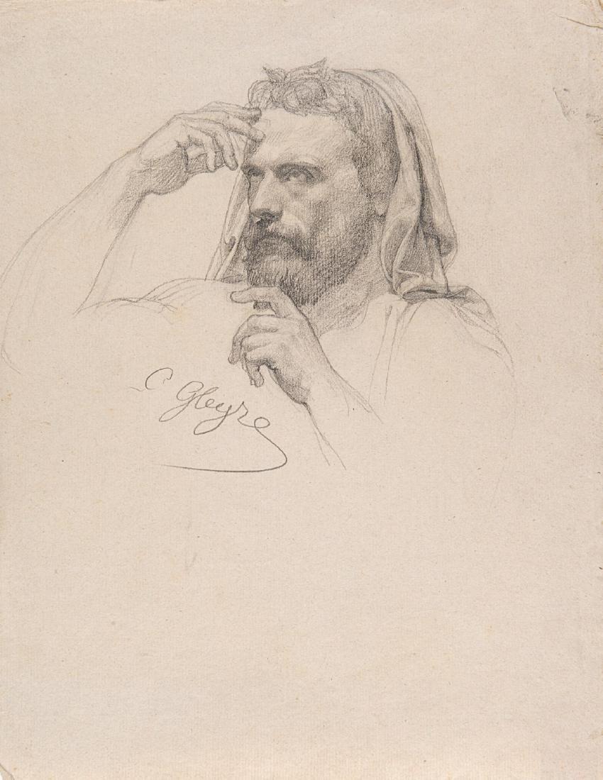 """Charles Gleyre (Chevilly 1806 - Parigi 1874)""""Volto"""