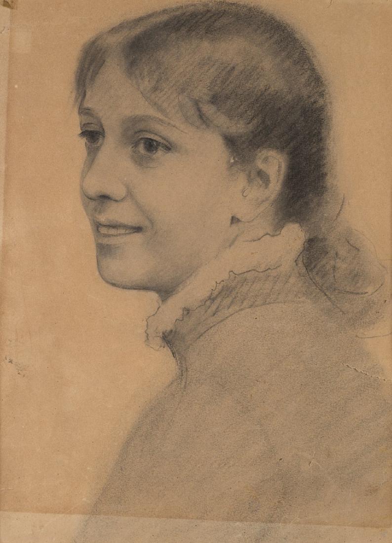 """Michele Gordigiani (Firenze 1835 - 1909)""""Ritratto della"""