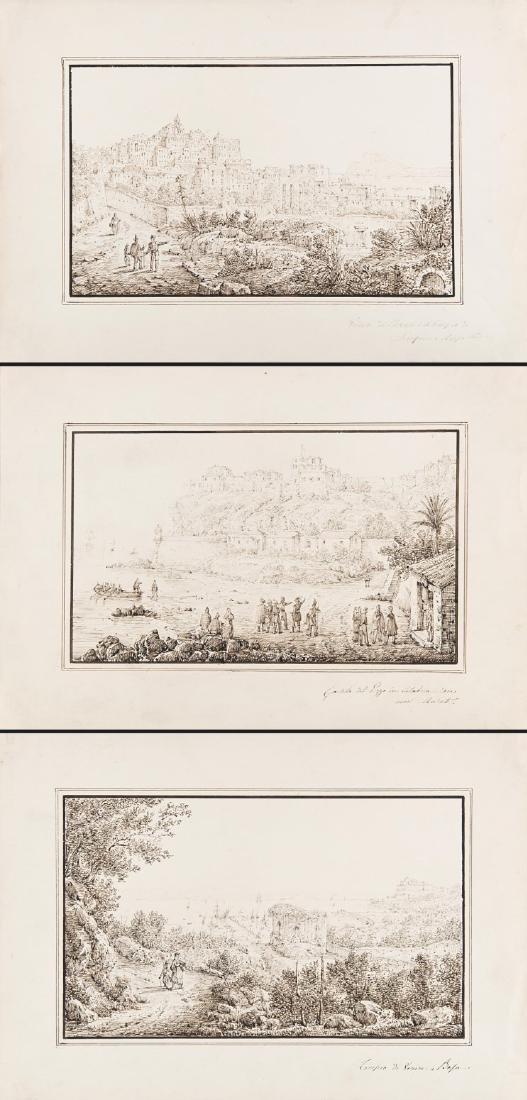 """Antonio Senape (Roma 1788 - Napoli 1850)""""Tempio di"""