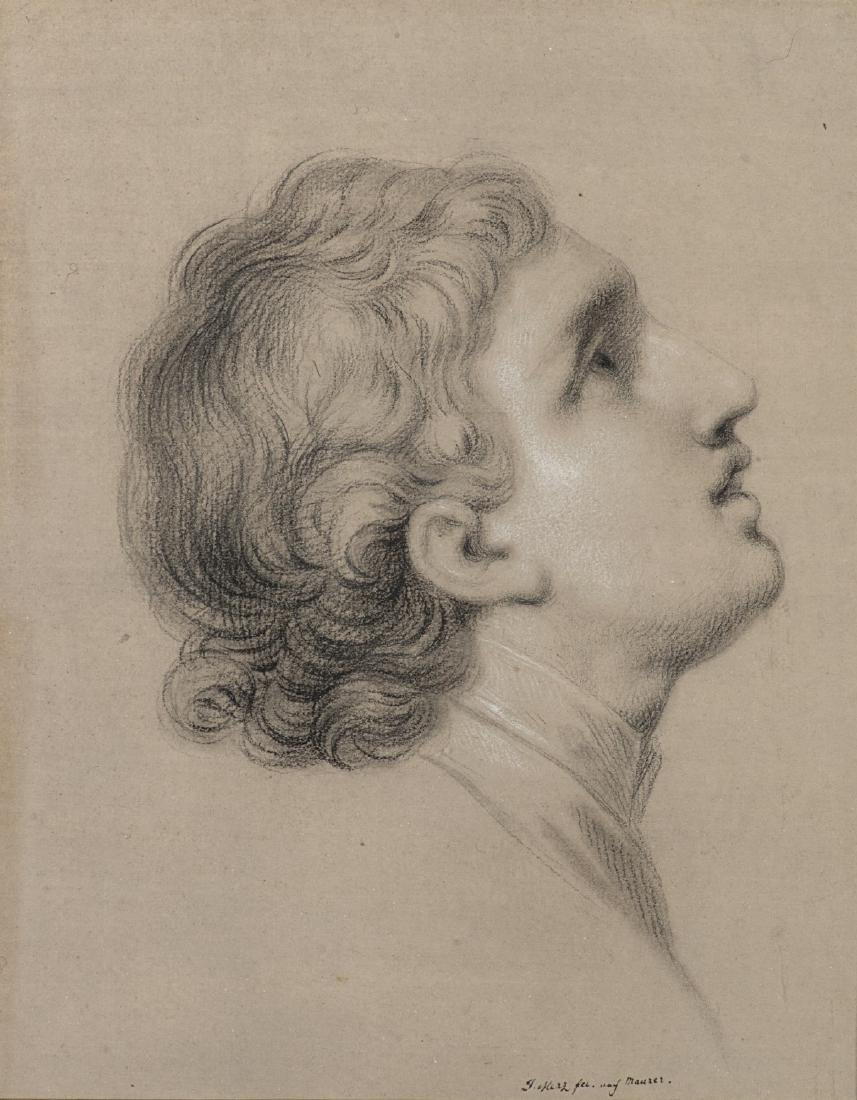 """Maestro del secolo XIX """"Ritratto maschile di profilo"""""""